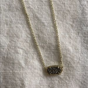 Kendra Scott Elisa Gold/platinum drusy necklace